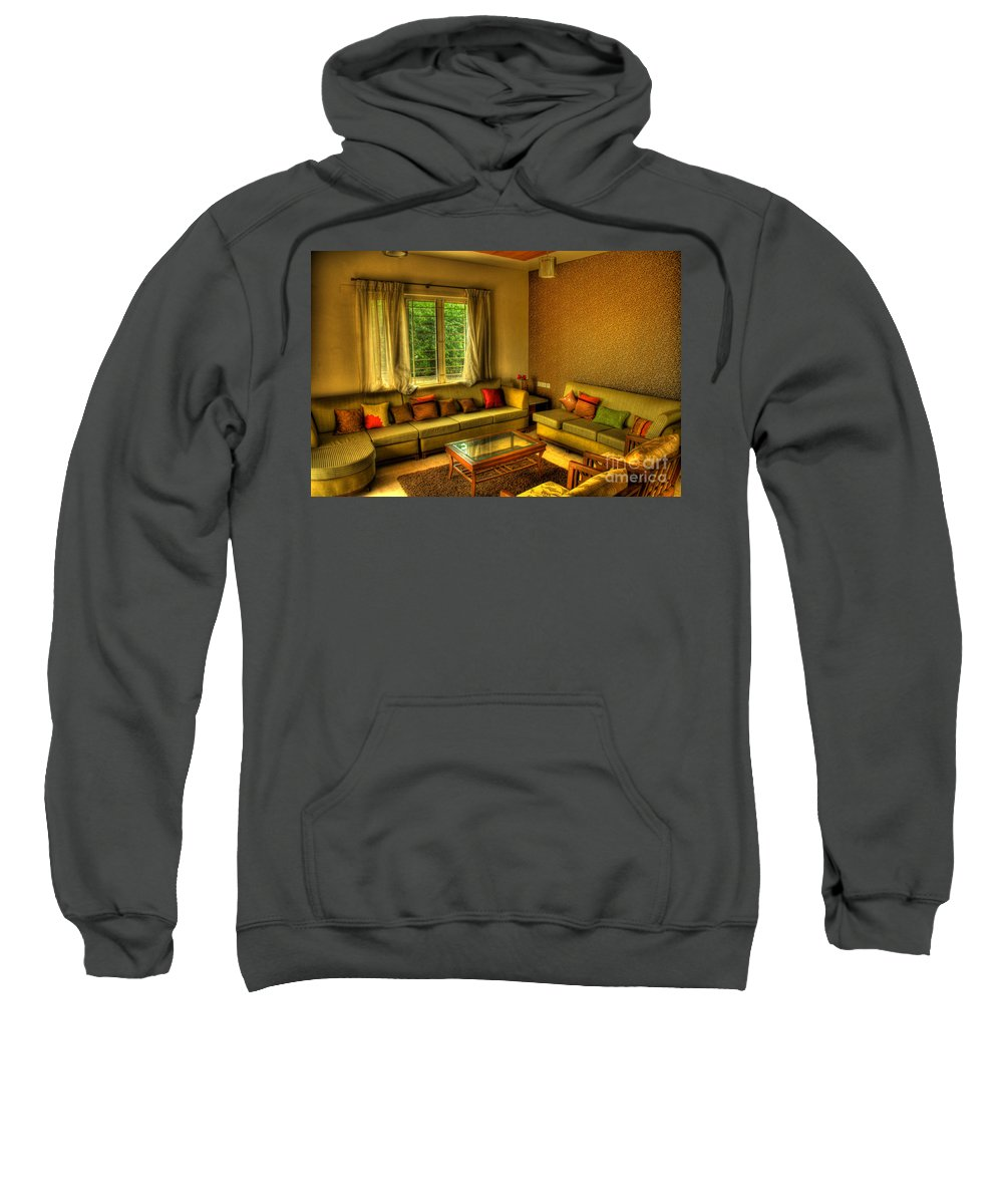 Living Room Sweatshirt featuring the photograph Living Room by Charuhas Images