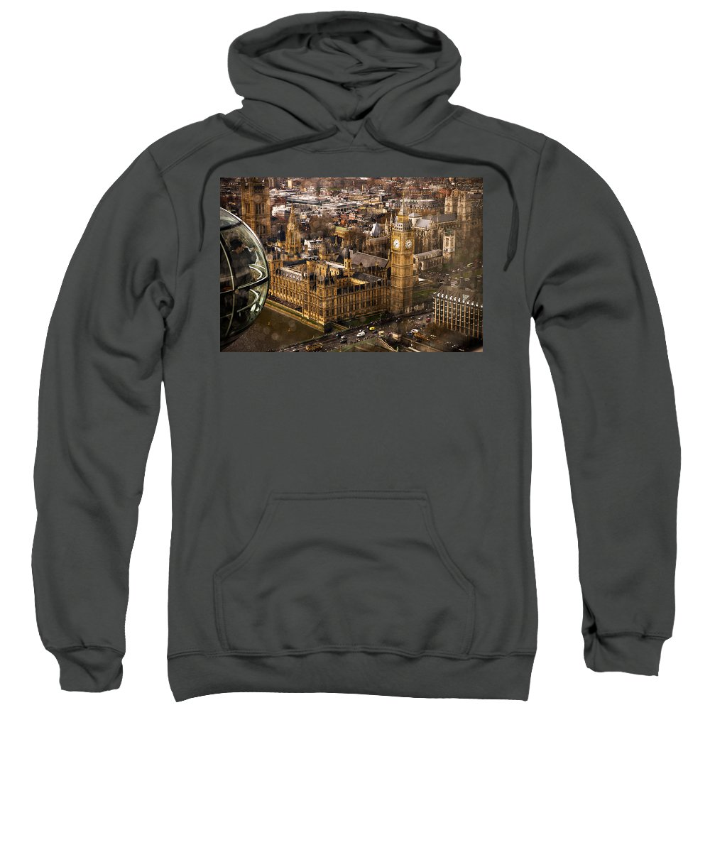 Big Ben Sweatshirt featuring the photograph London From The London Eye by Beth Riser
