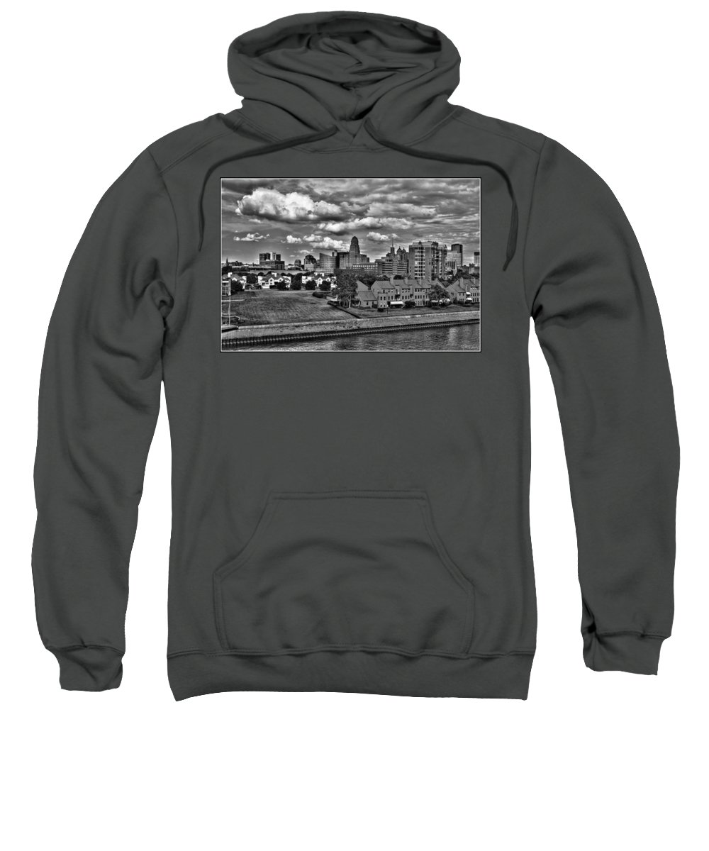 Sweatshirt featuring the photograph Looking Downtown From The Erie Basin Marina by Michael Frank Jr