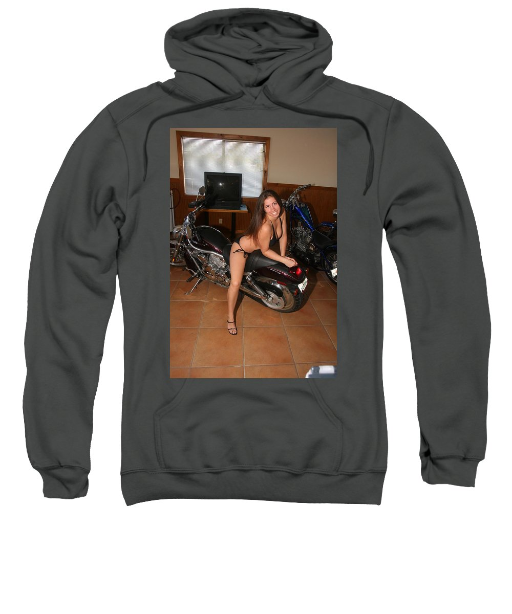 Everglades City Fl Professional Photographer Lucky Cole Sweatshirt featuring the photograph Biker 209 by Lucky Cole