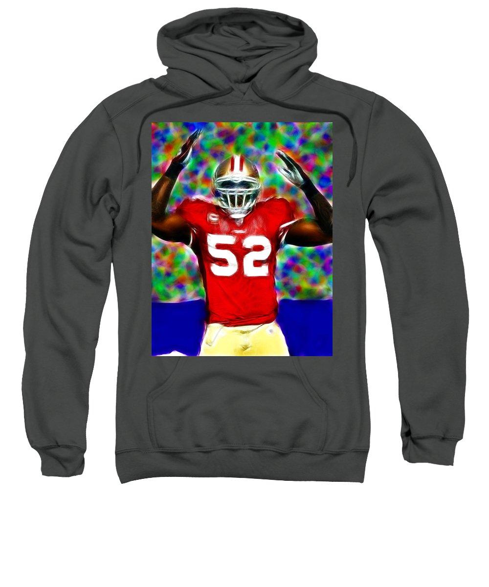 San Francisco Sweatshirt featuring the digital art Magical Patrick Willis by Paul Van Scott
