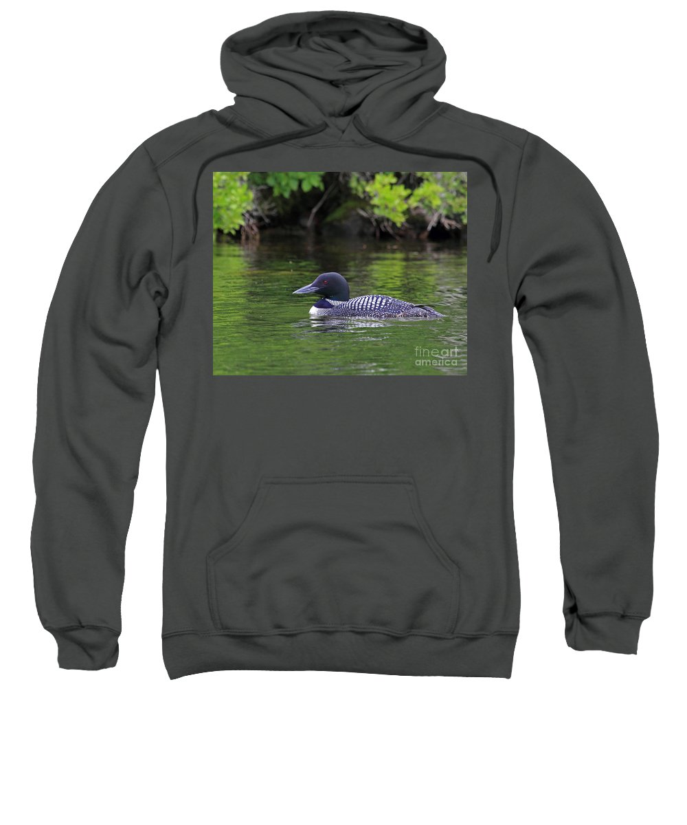 Bear Sweatshirt featuring the photograph Majestic Loon by Lloyd Alexander