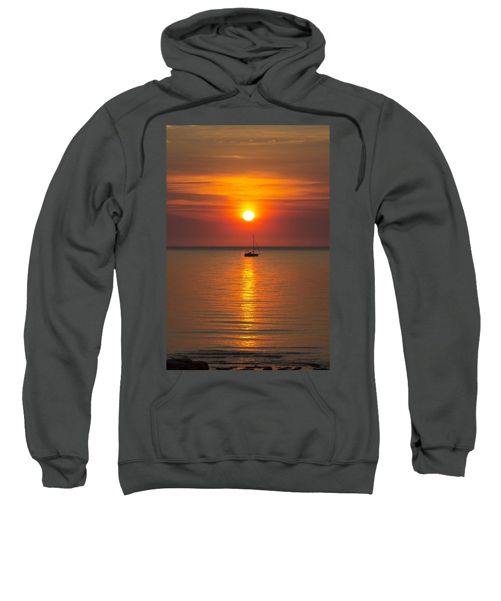 Sailboat Sweatshirt featuring the photograph Majestic Sunset by Douglas Barnard