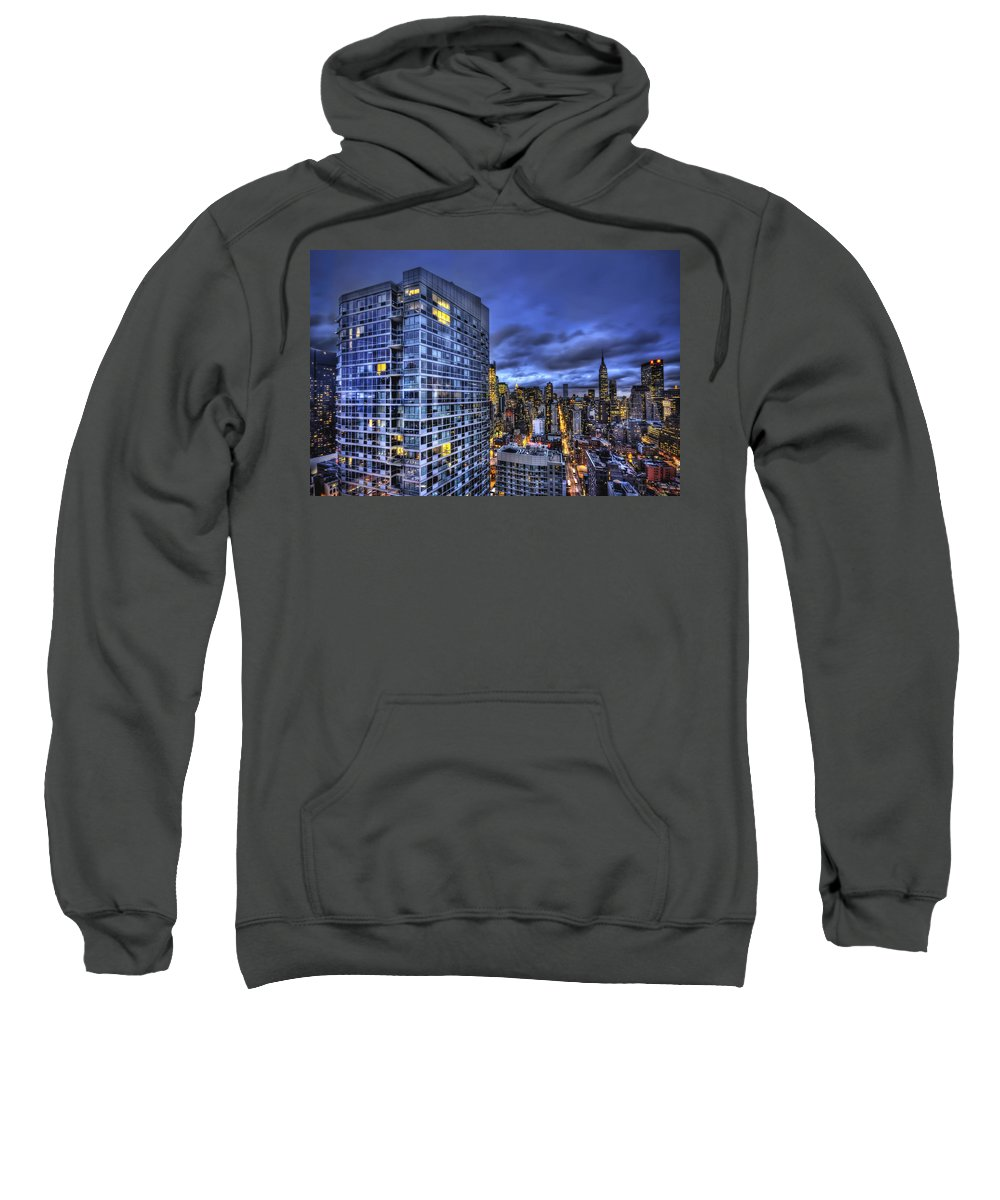 New York Sweatshirt featuring the photograph Major Highs And Manic Lows by Evelina Kremsdorf