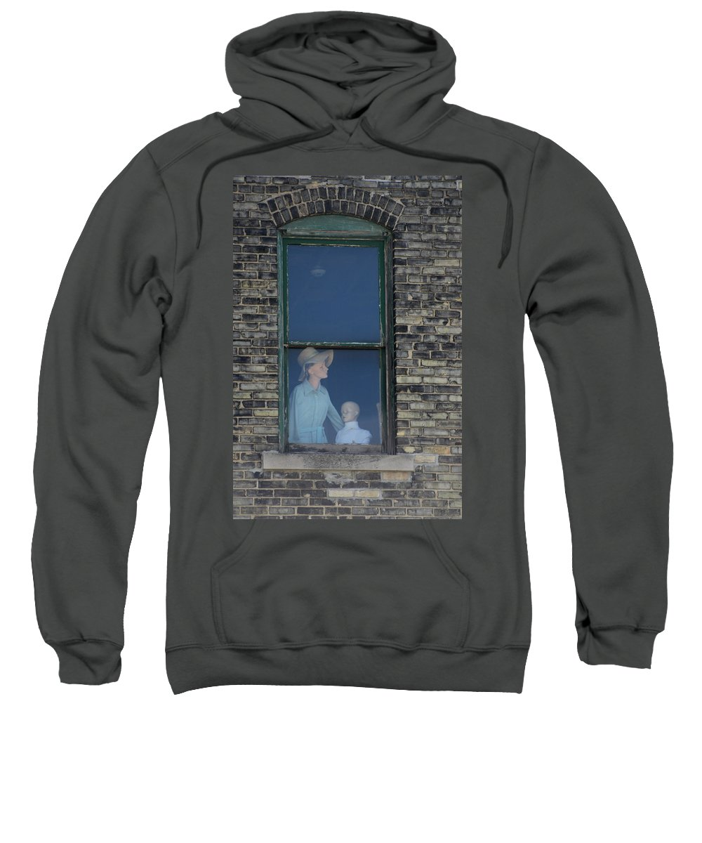 Window Sweatshirt featuring the photograph Mannequins Lost In The Window. by Dennis Pintoski