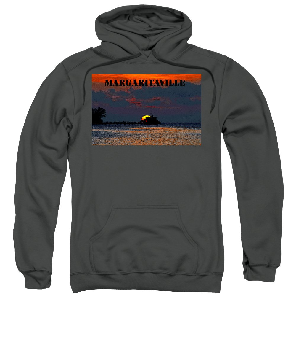 Art Sweatshirt featuring the painting Margaritaville by David Lee Thompson
