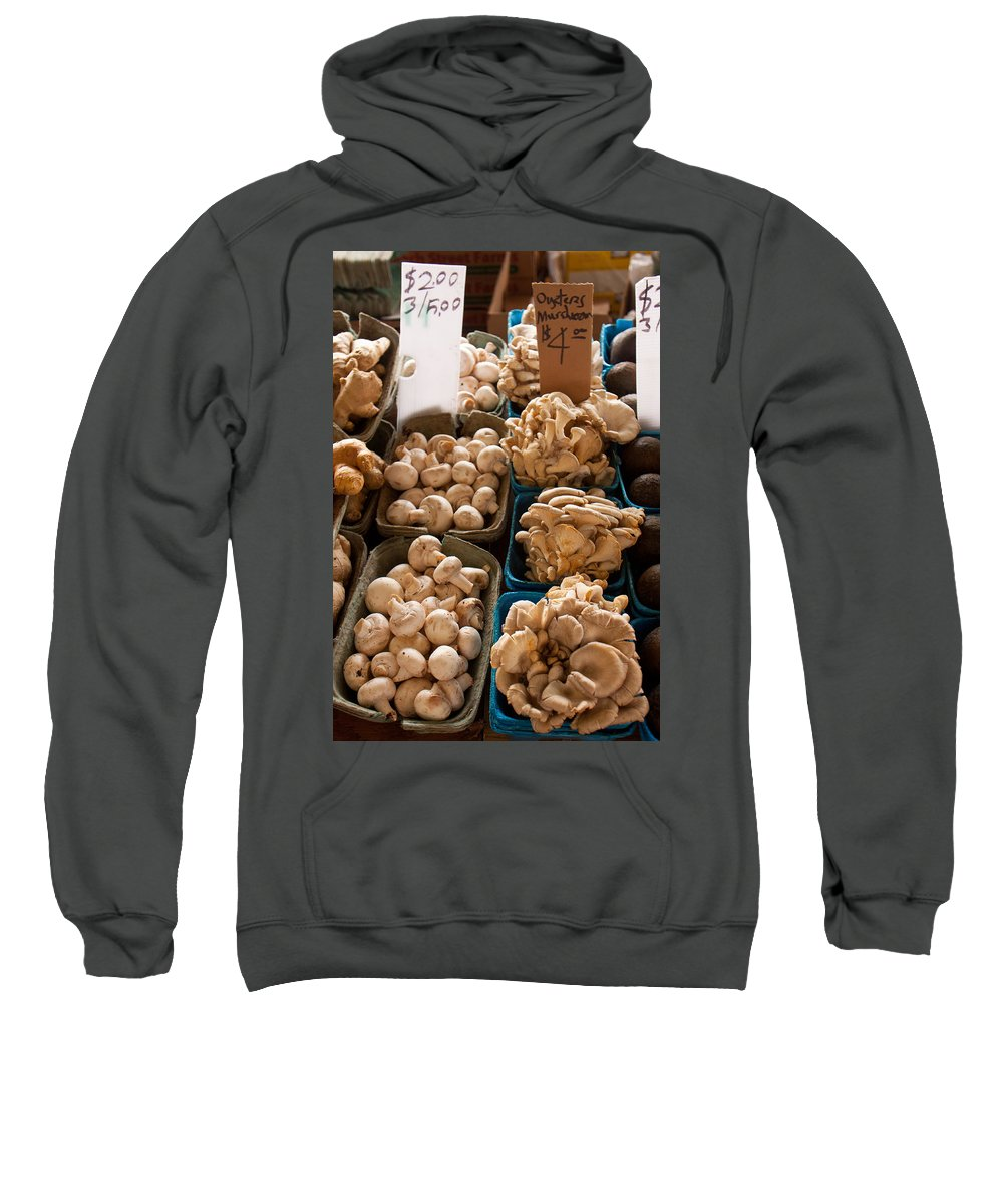 Mushrooms Sweatshirt featuring the photograph Market Mushrooms by Lauri Novak
