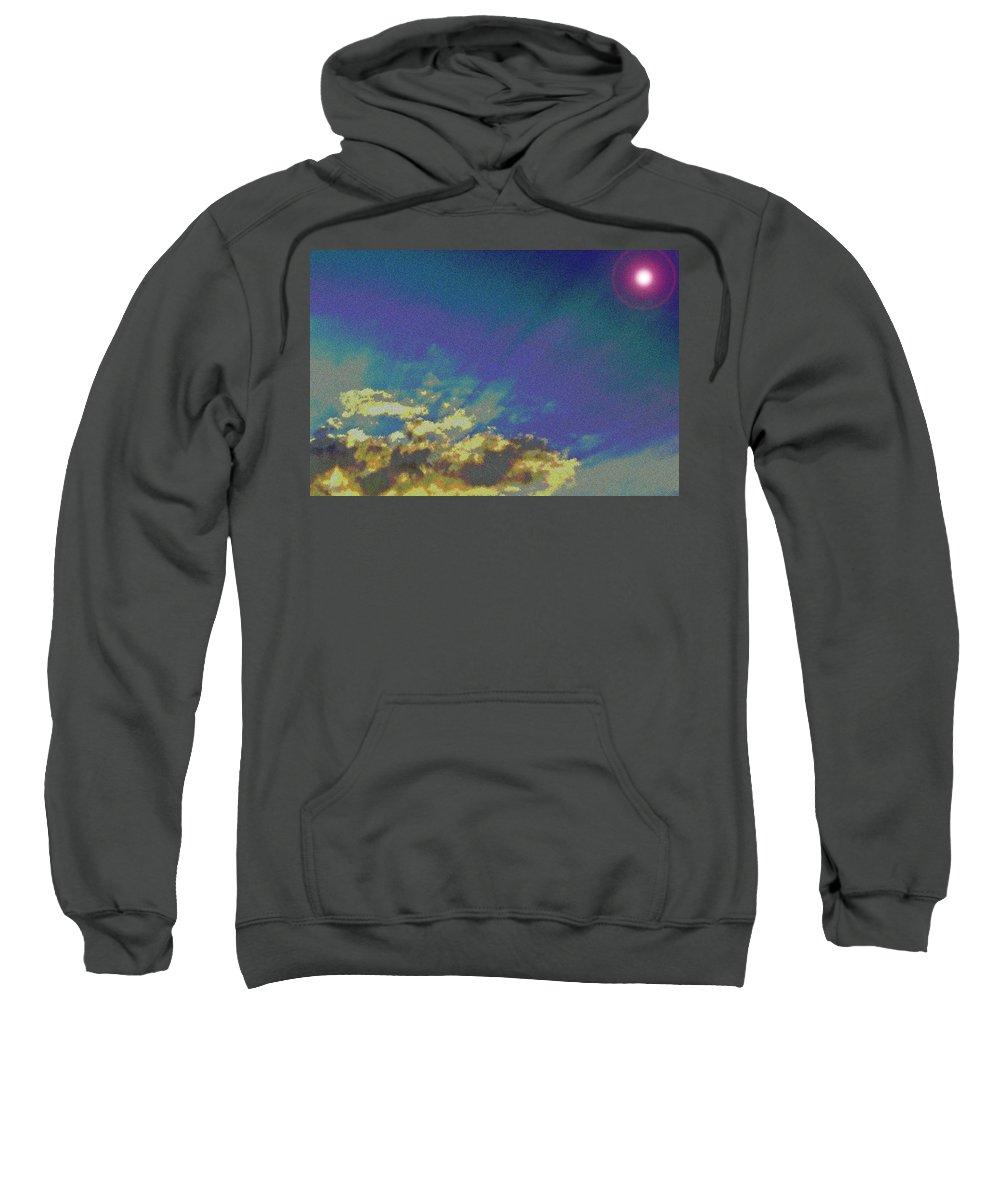 Sky Sweatshirt featuring the digital art Martian Sky by David Pyatt