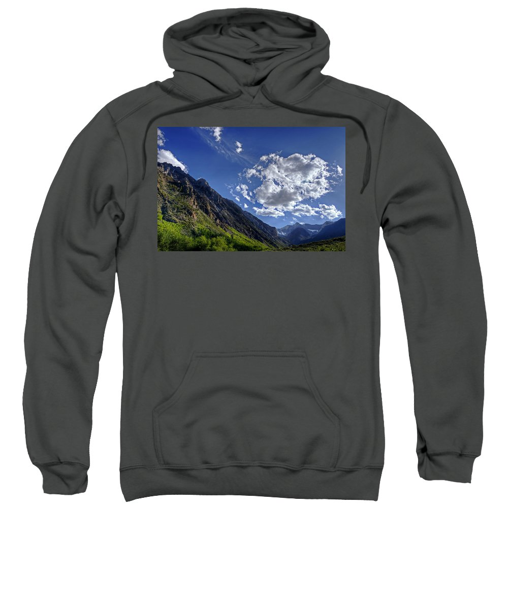 Mcgee Sweatshirt featuring the photograph Mcgee Creek Canyon by Dianne Phelps