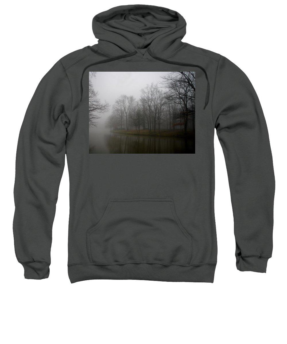 Fog Sweatshirt featuring the photograph Melancholy Foggy Evening by Jenny Gandert