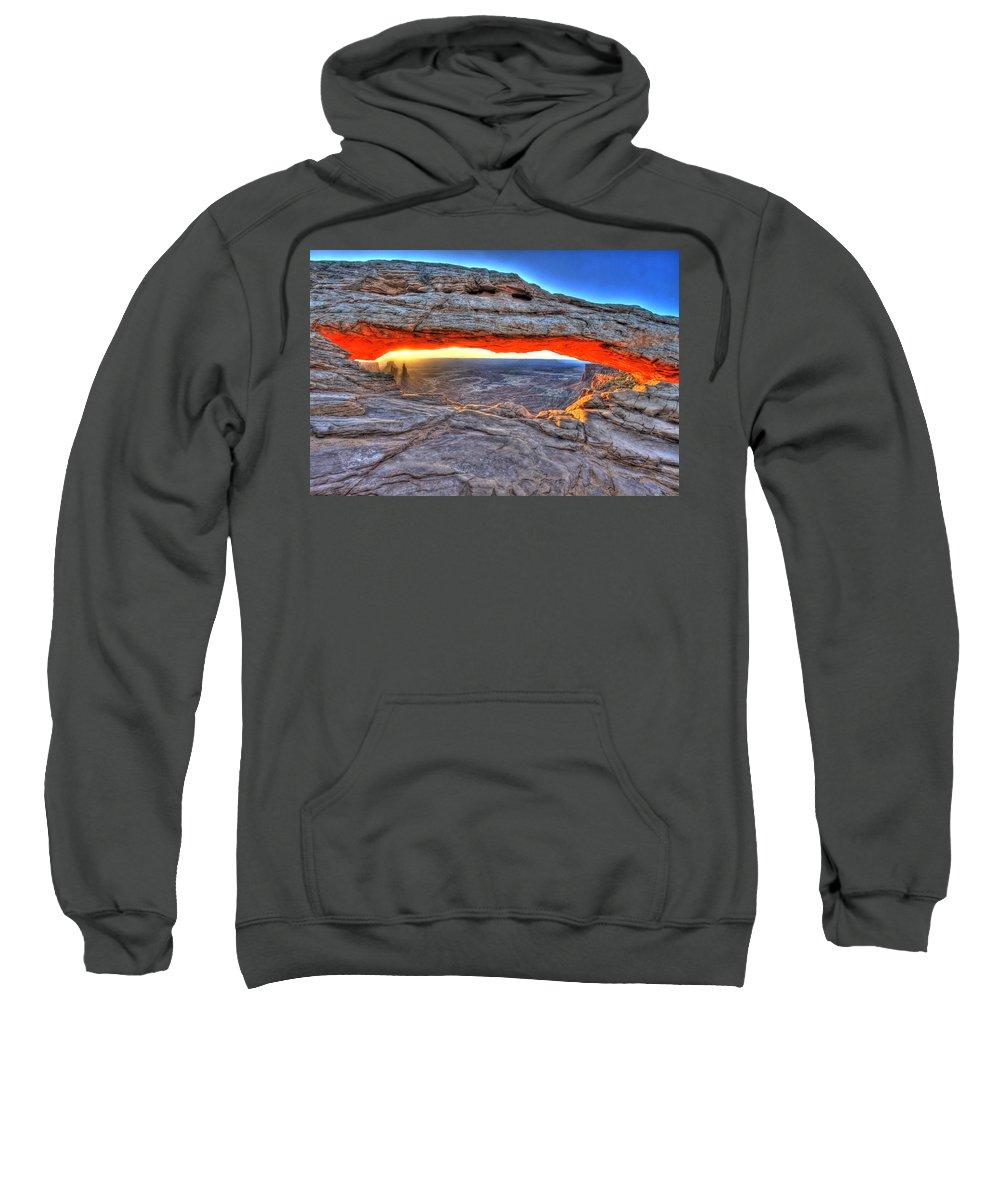 Utah Sweatshirt featuring the photograph Mesa by Scott Mahon