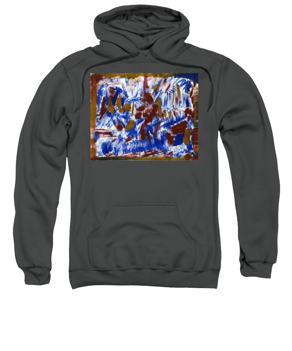 Messiah In Severalty Sweatshirt featuring the painting Messiah In Severalty by Taylor Webb
