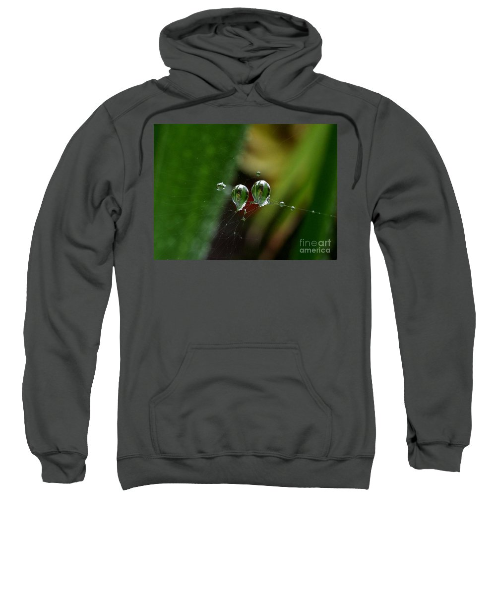 Web Sweatshirt featuring the photograph Micro Lenses by John Chatterley