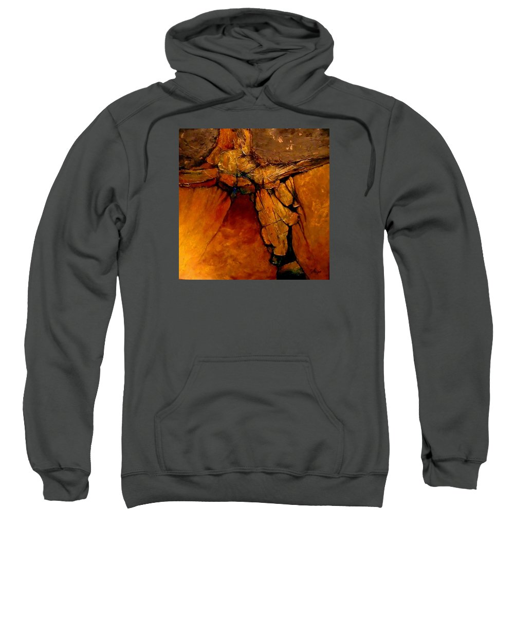 Contemporary Sweatshirt featuring the painting Midas Touch by Carol Nelson