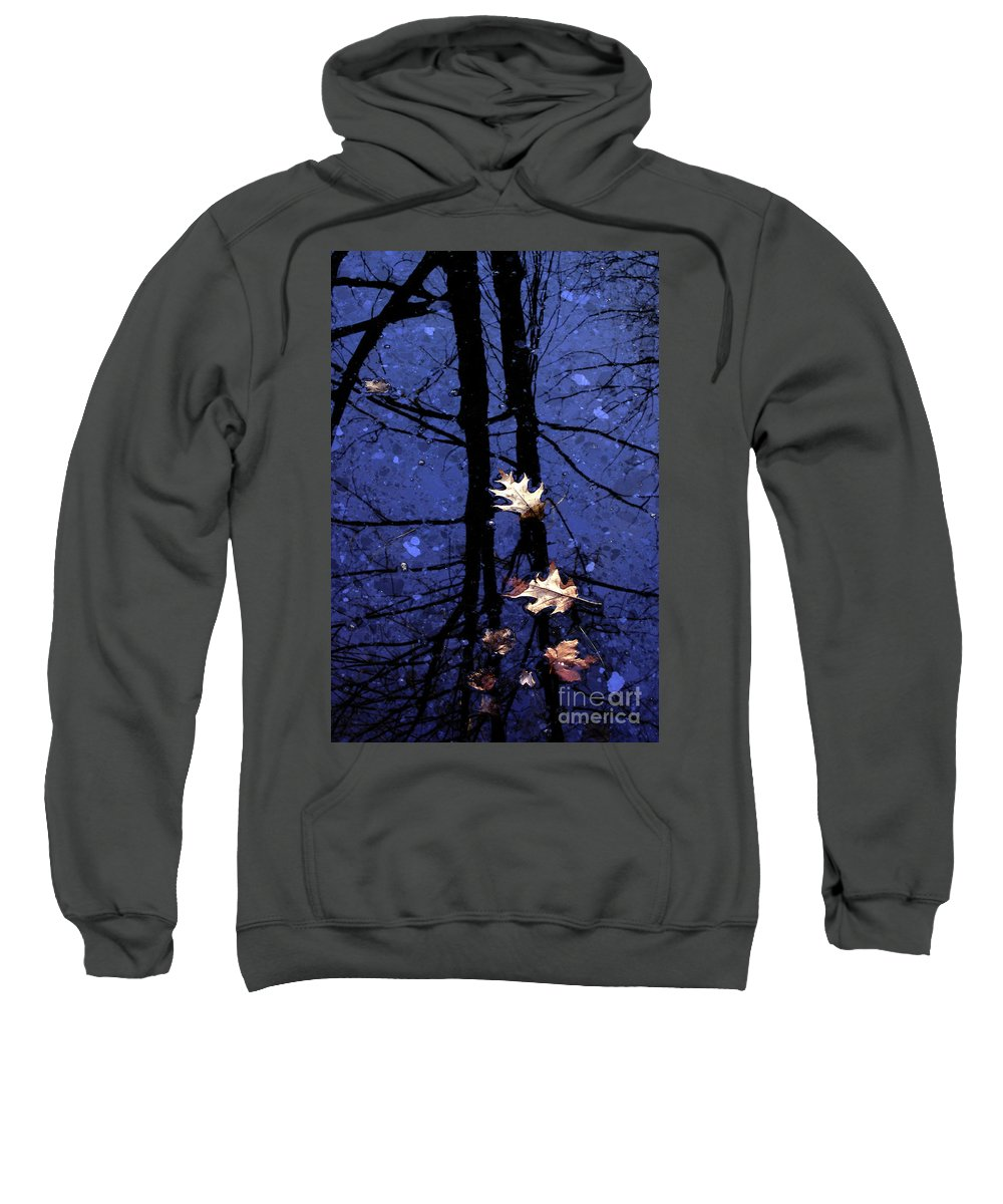 Leaves Sweatshirt featuring the photograph Midnight Stillness by Mike Nellums
