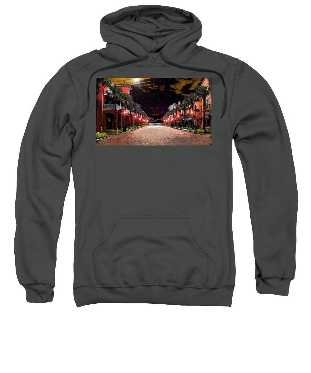 Art Sweatshirt featuring the painting Midnight Halloween by David Lee Thompson