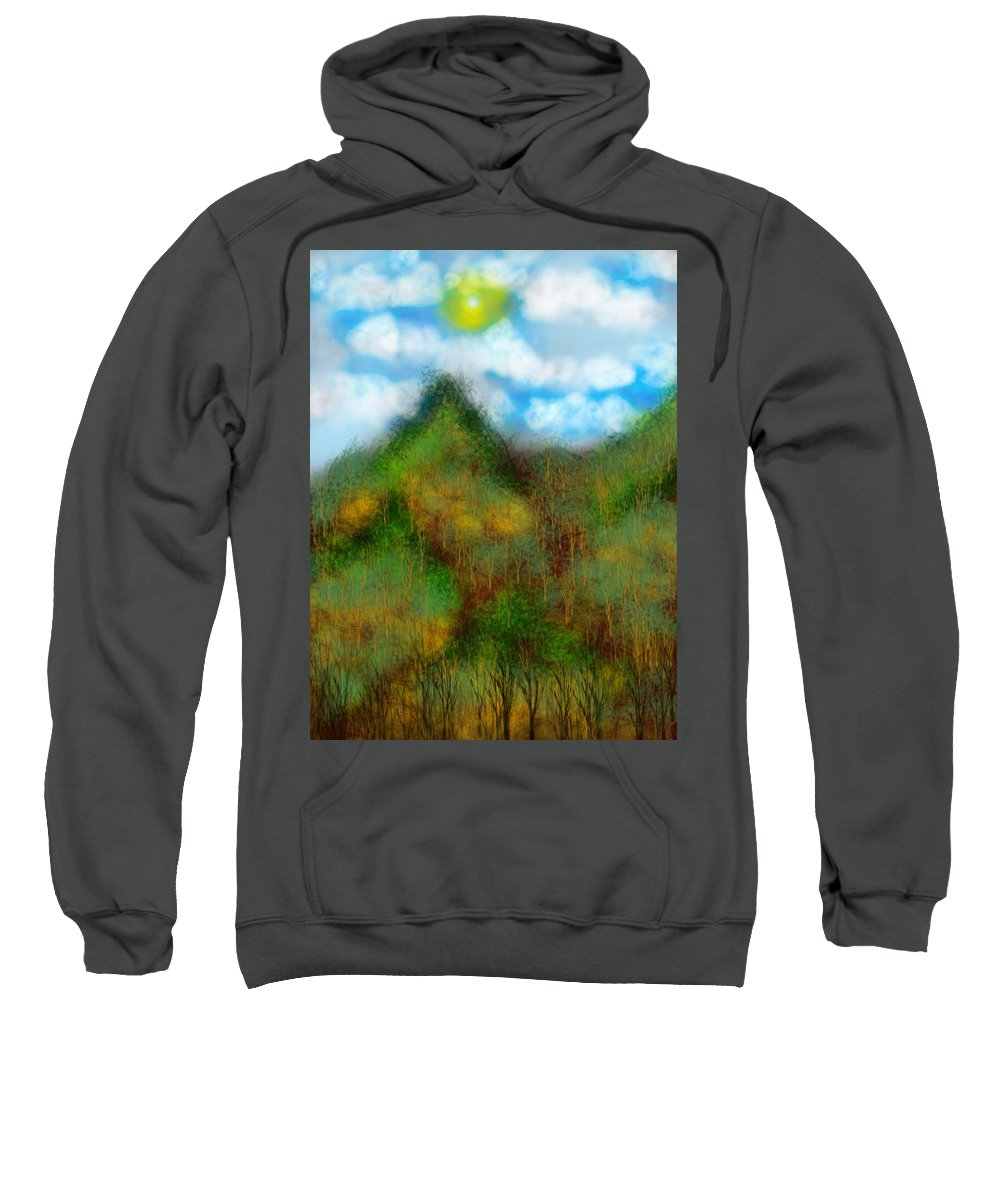 Sweatshirt featuring the digital art Montain by Mathieu Lalonde