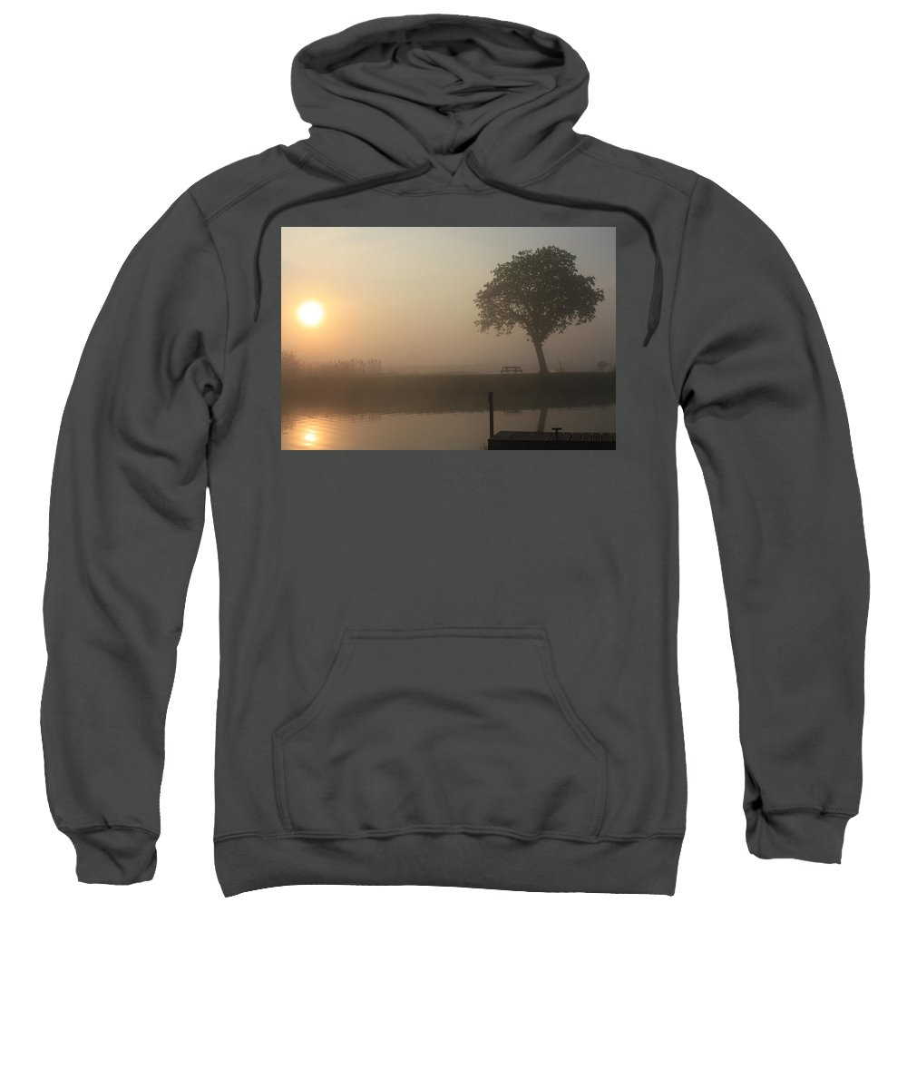 Inland Waterways Sweatshirt featuring the photograph Morning Calm by Linsey Williams