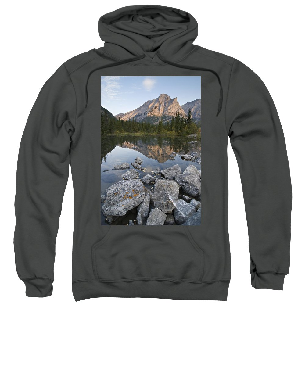 Body Of Water Sweatshirt featuring the photograph Mount Kidd, Kananaskis, Alberta, Canada by Philippe Widling