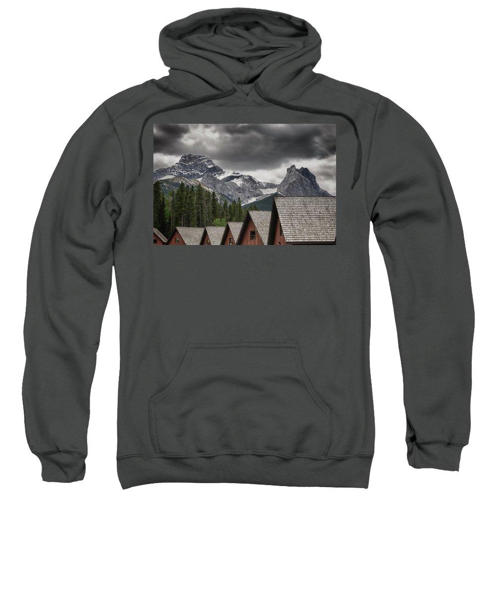 Alberta Sweatshirt featuring the photograph Mount Lougheed by Roderick Bley