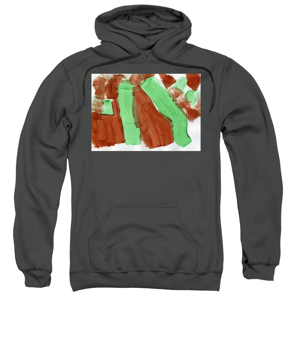 Natural Pastures Sweatshirt featuring the painting Natural Pastures by Taylor Webb
