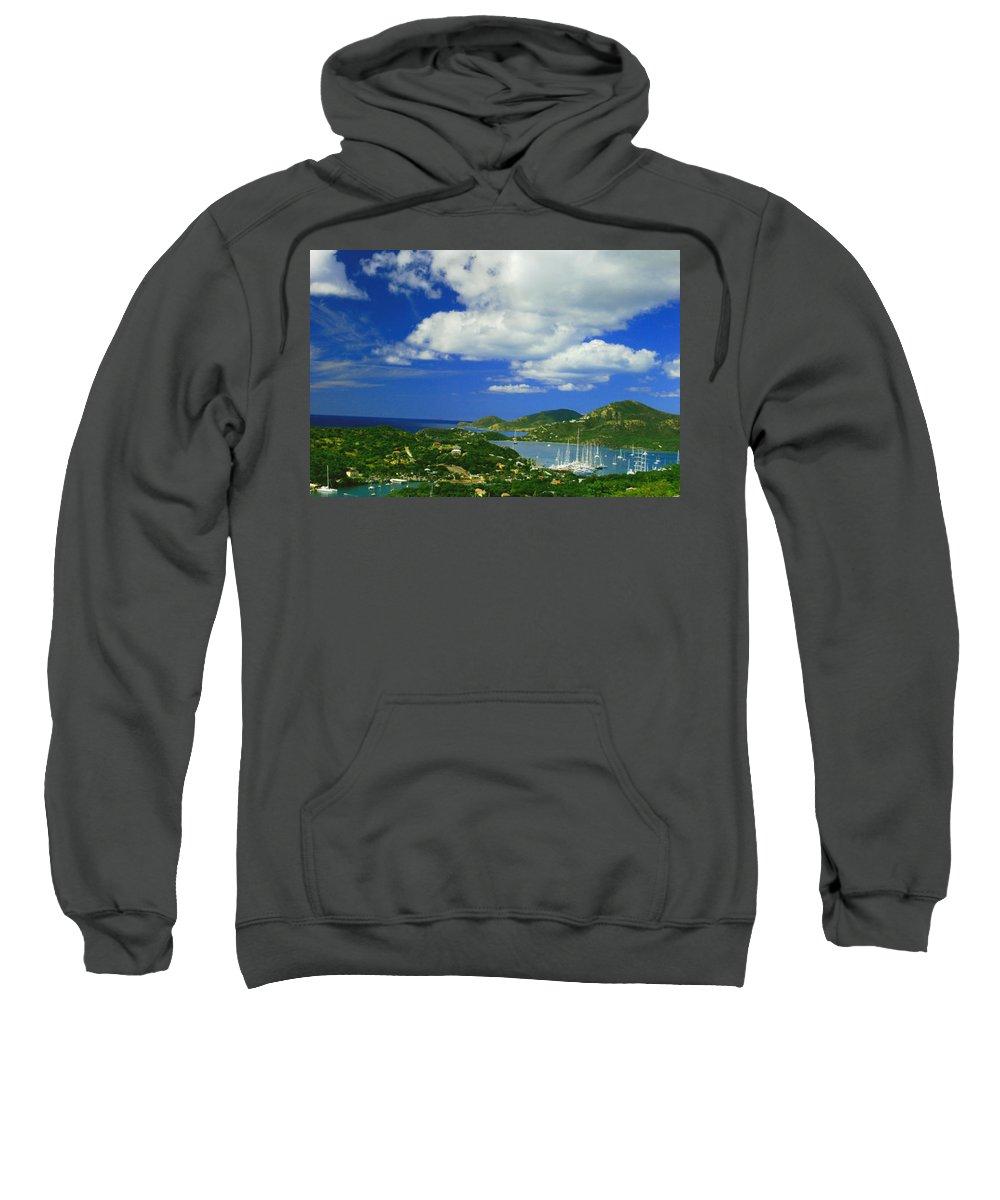 Antigua Sweatshirt featuring the photograph Nelson's Dockyard by Gary Wonning