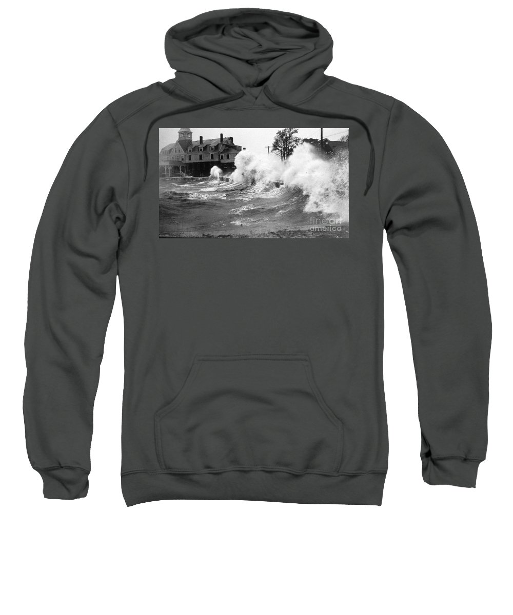 Science Sweatshirt featuring the photograph New England Hurricane, 1938 by Science Source