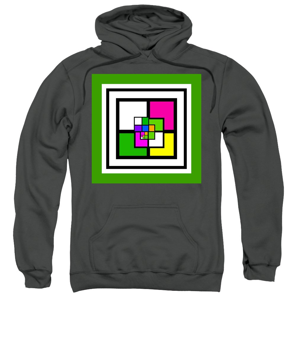 Cote Sweatshirt featuring the painting New Green by Charles Stuart