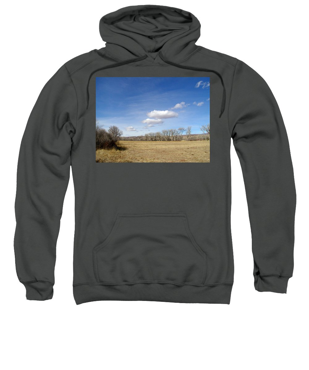 New Mexico Sweatshirt featuring the photograph New Mexico Series - The Long View by Kathleen Grace