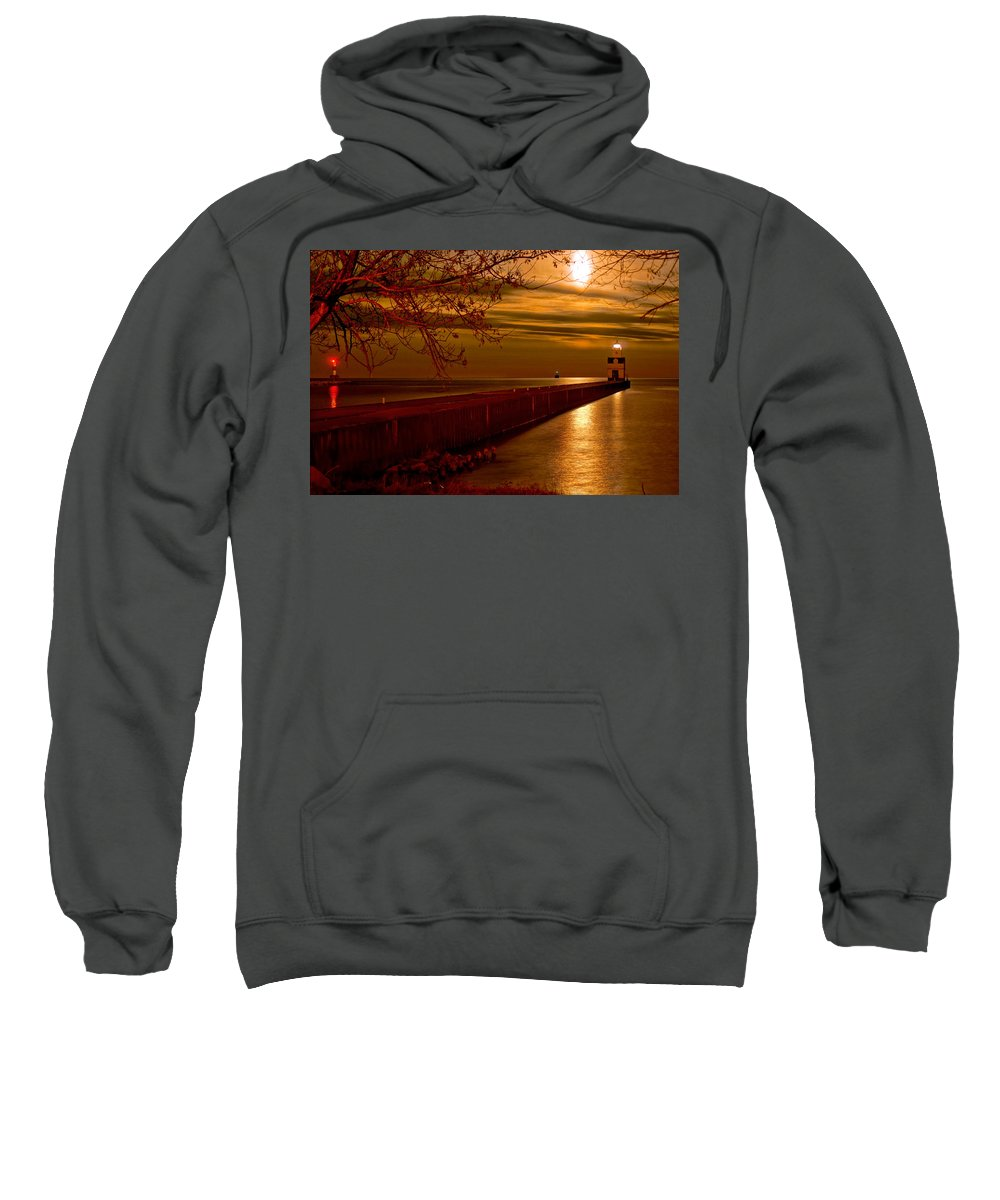 Lighthouse Sweatshirt featuring the photograph Night Vision by Bill Pevlor