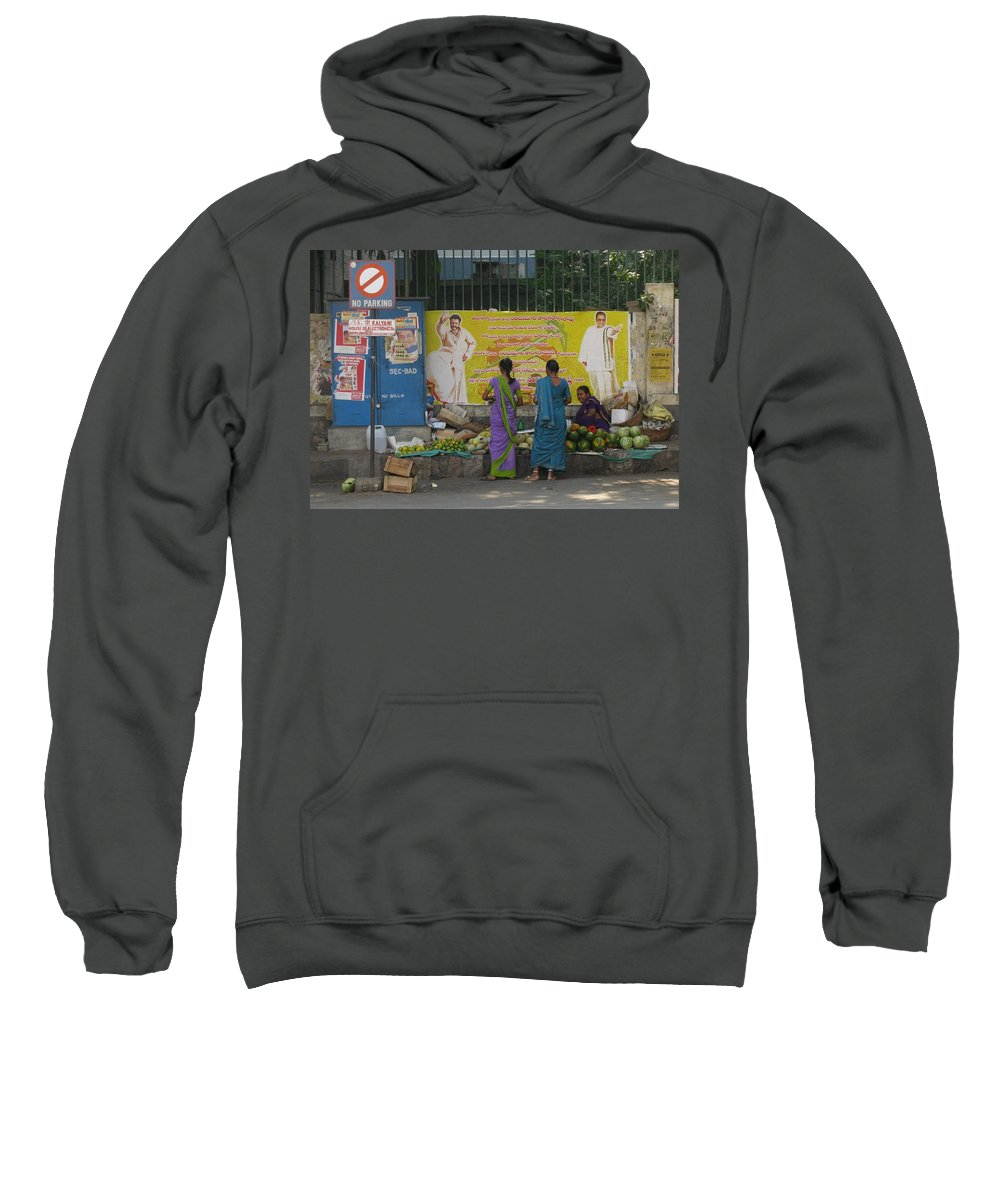 Street Vender Sweatshirt featuring the photograph No Parking by David Pantuso