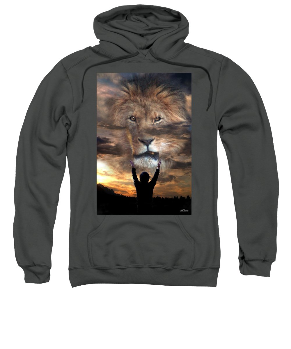 Spiritual Sweatshirt featuring the digital art Not All Who Say Lord Lord by Bill Stephens