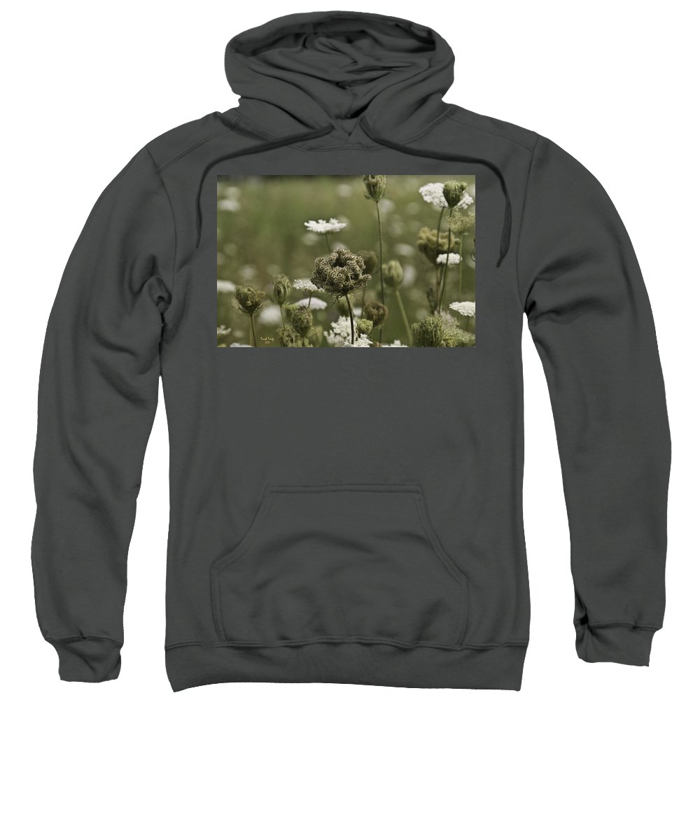 Flower Sweatshirt featuring the photograph Not Just A Weed by Trish Tritz