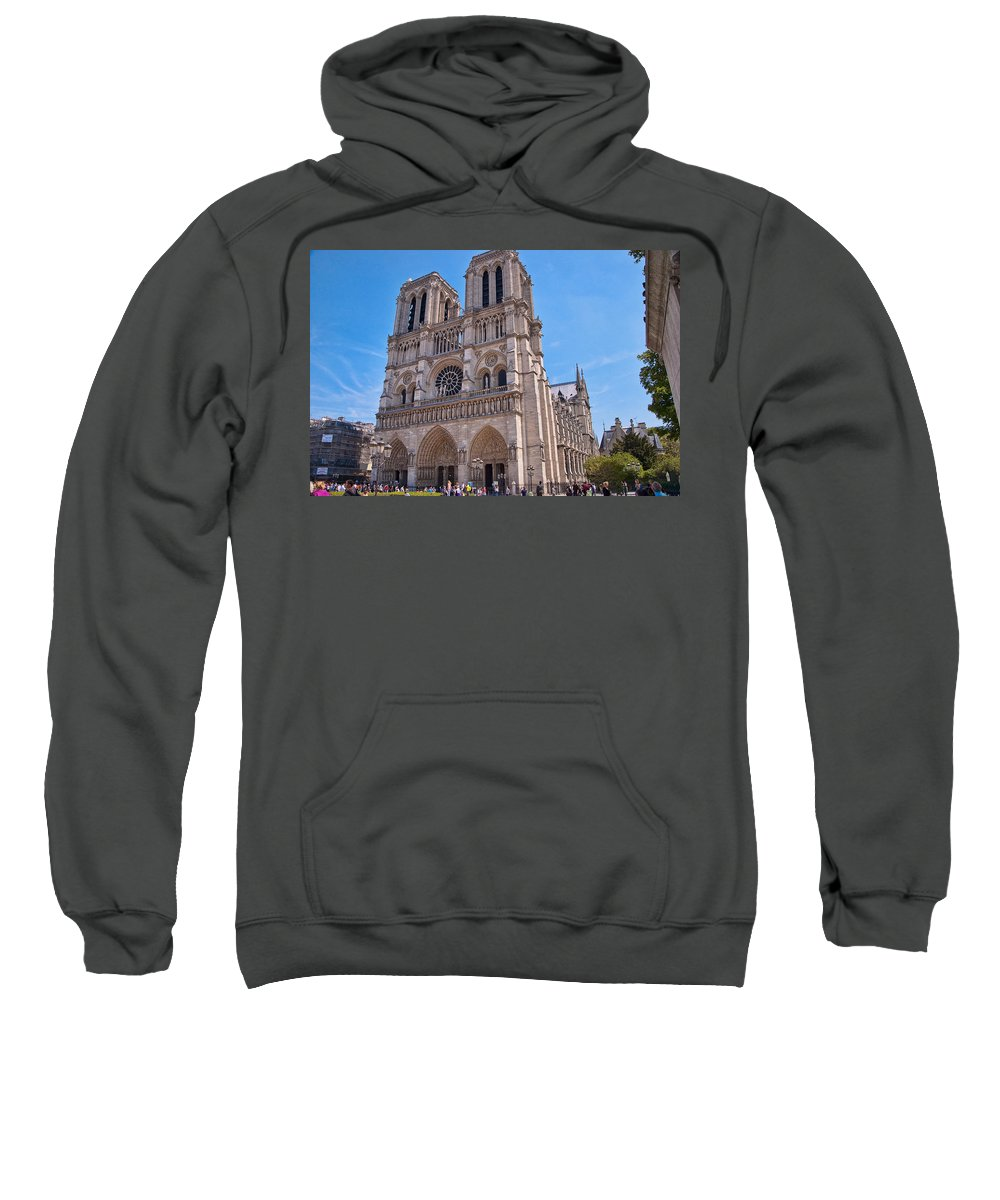 France Sweatshirt featuring the photograph Notre Dame Cathedral Paris France by Jon Berghoff