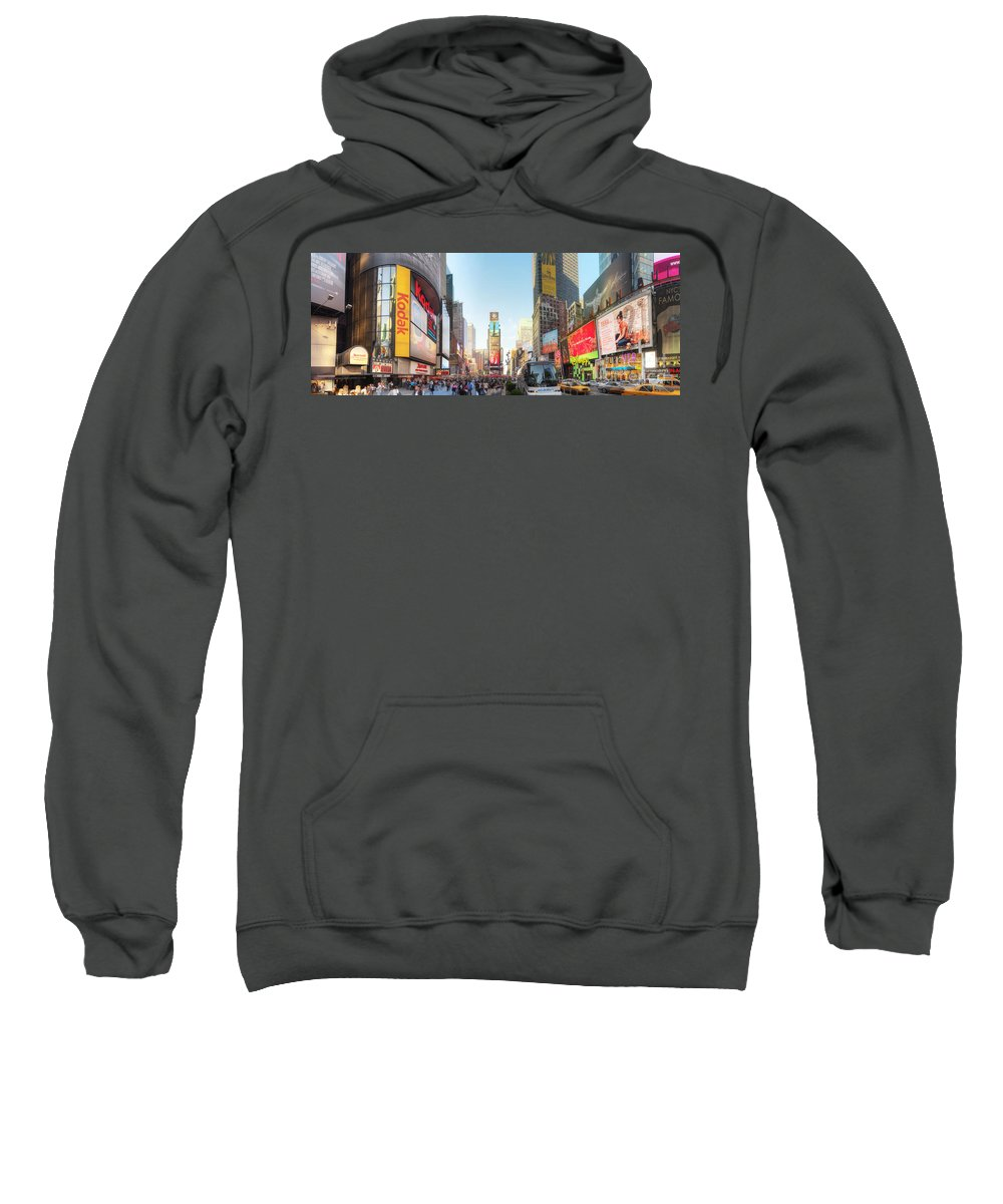 Art Sweatshirt featuring the photograph Nyc Times Square by Yhun Suarez