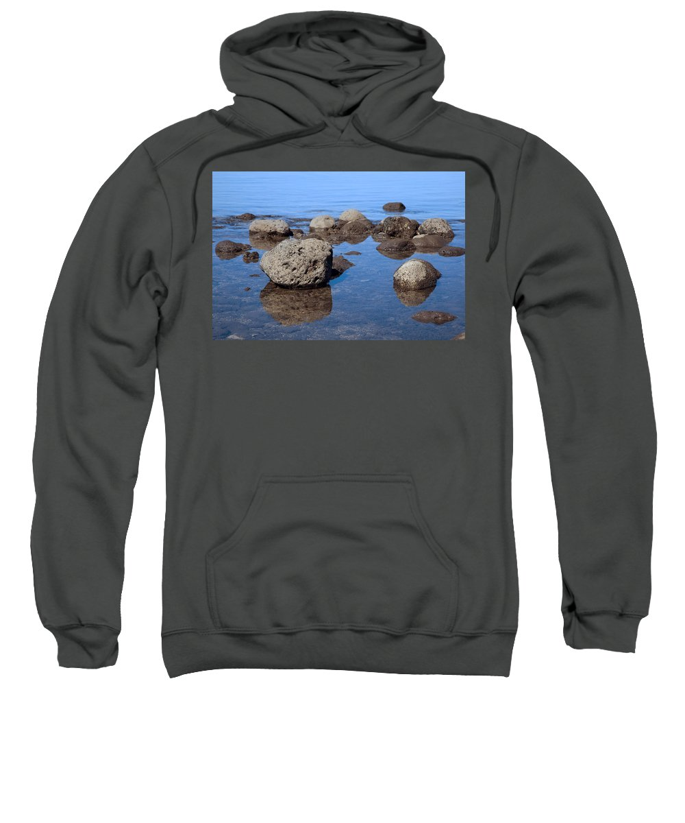 Calm Sweatshirt featuring the photograph Ocean Rocks by Jenna Szerlag