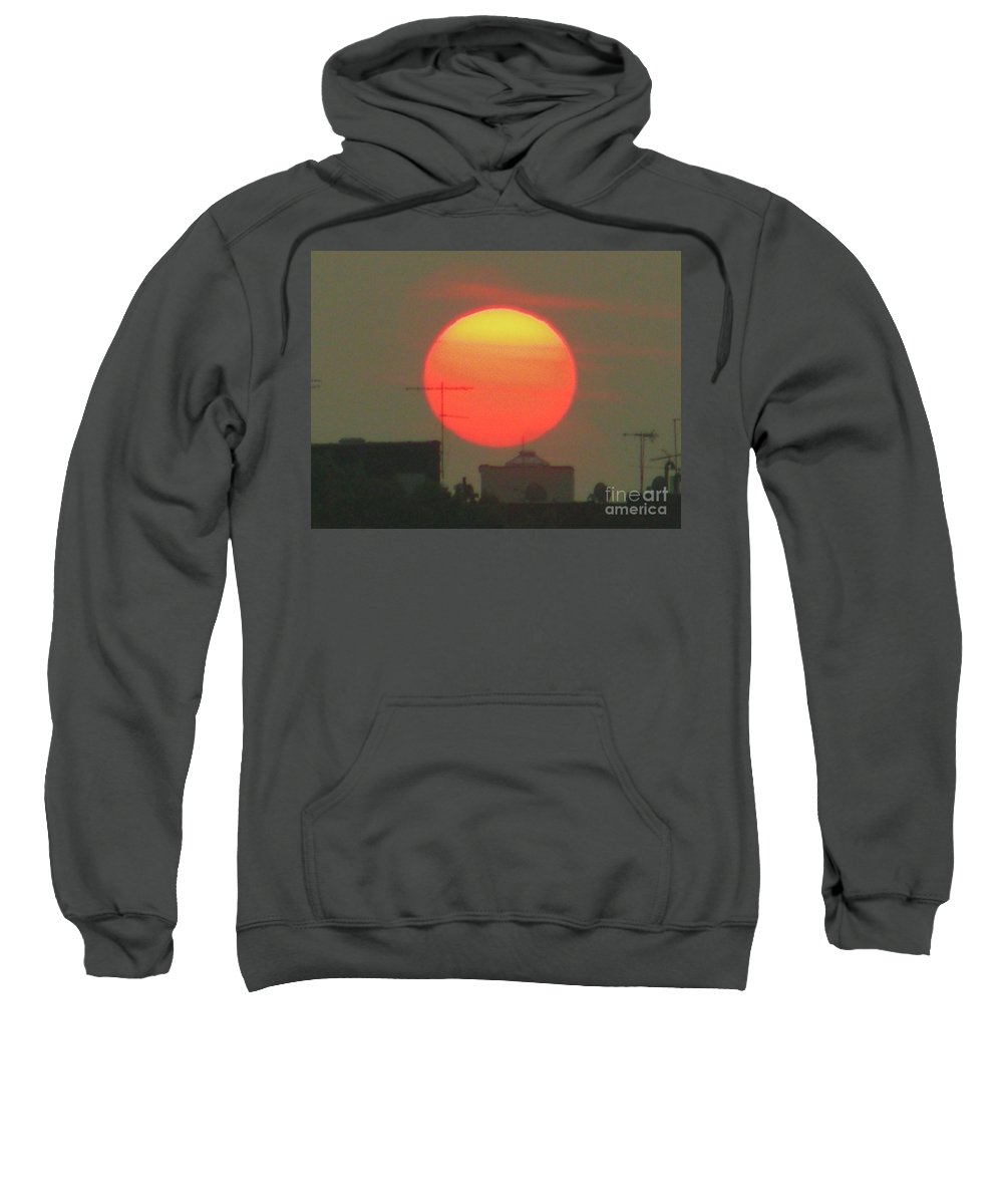 Sunset Sweatshirt featuring the photograph October 17 2007 by Mark Gilman