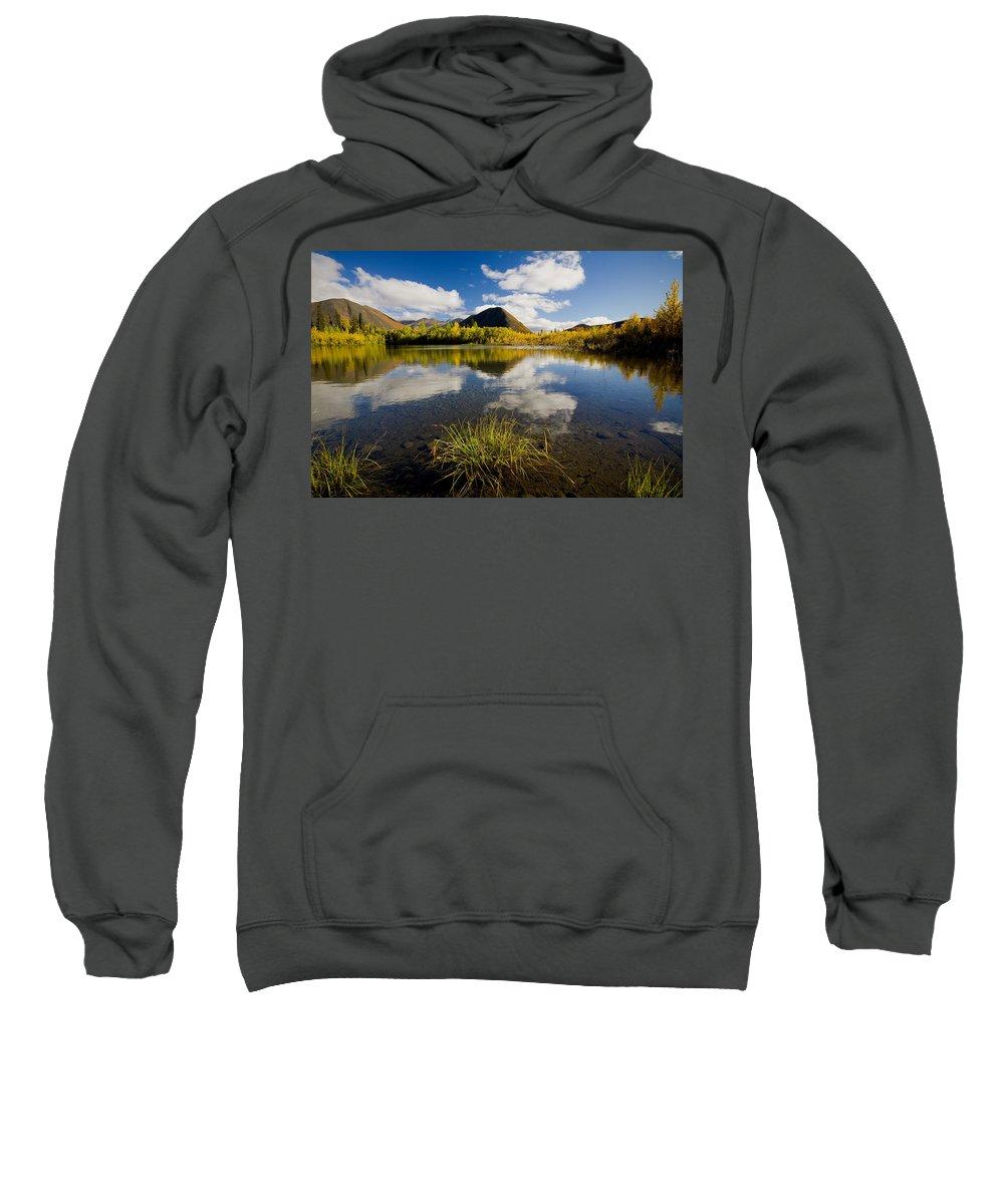 Cloud Sweatshirt featuring the photograph Ogilvie Mountains Along Dempster by John Sylvester