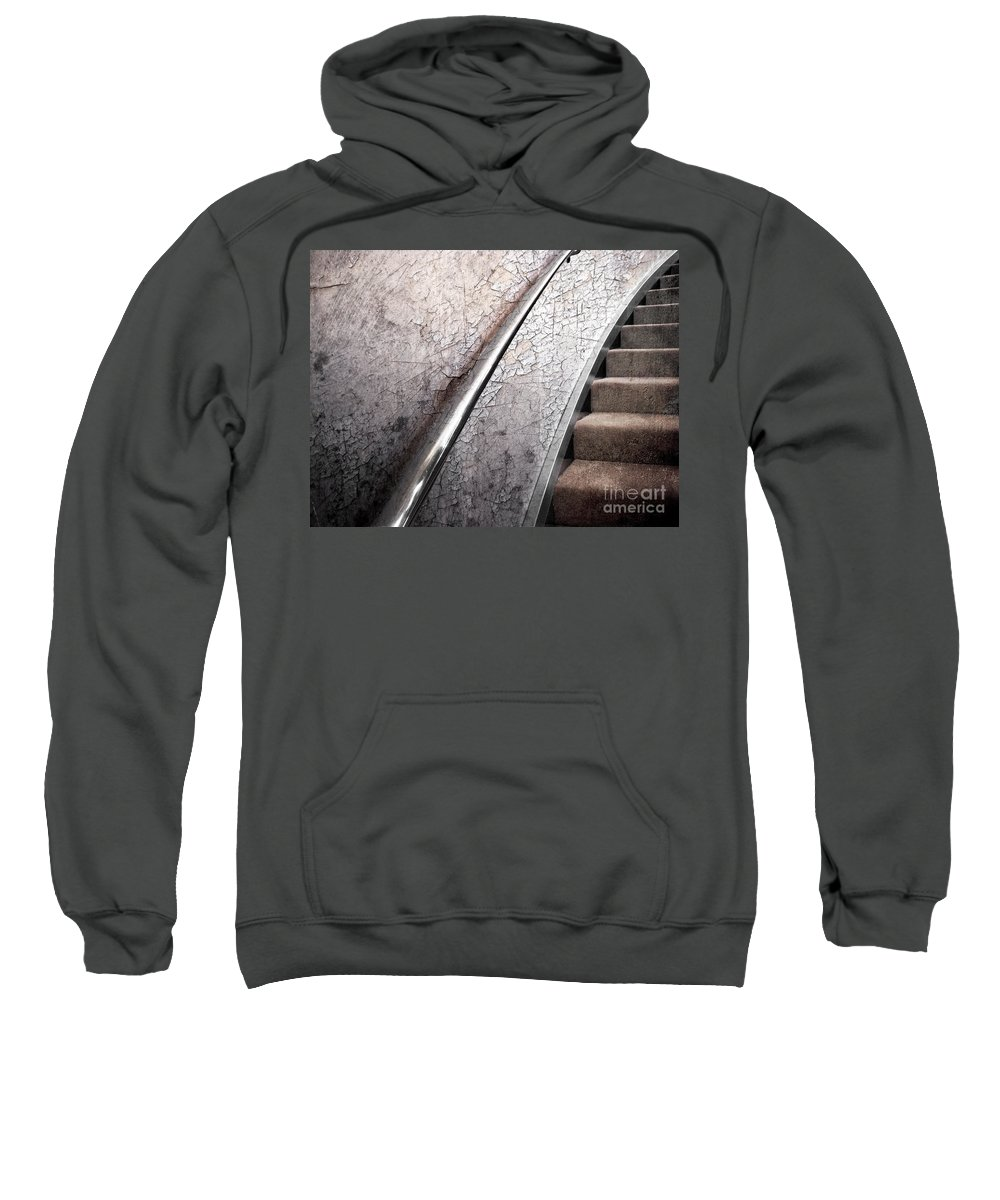 Textures Sweatshirt featuring the photograph Old And New by Ellen Cotton
