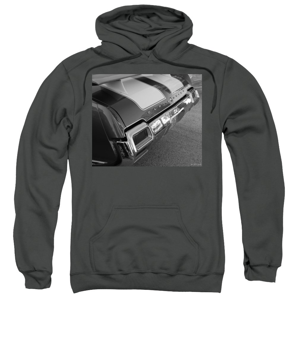 Oldsmobile Sweatshirt featuring the photograph Olds Cs In Black And White by Rob Hans