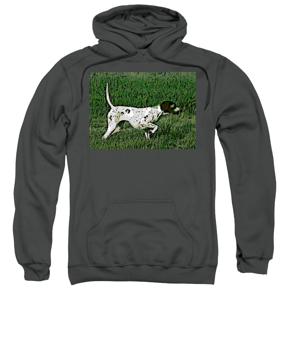Bird Dog Sweatshirt featuring the photograph On Point by George Pedro