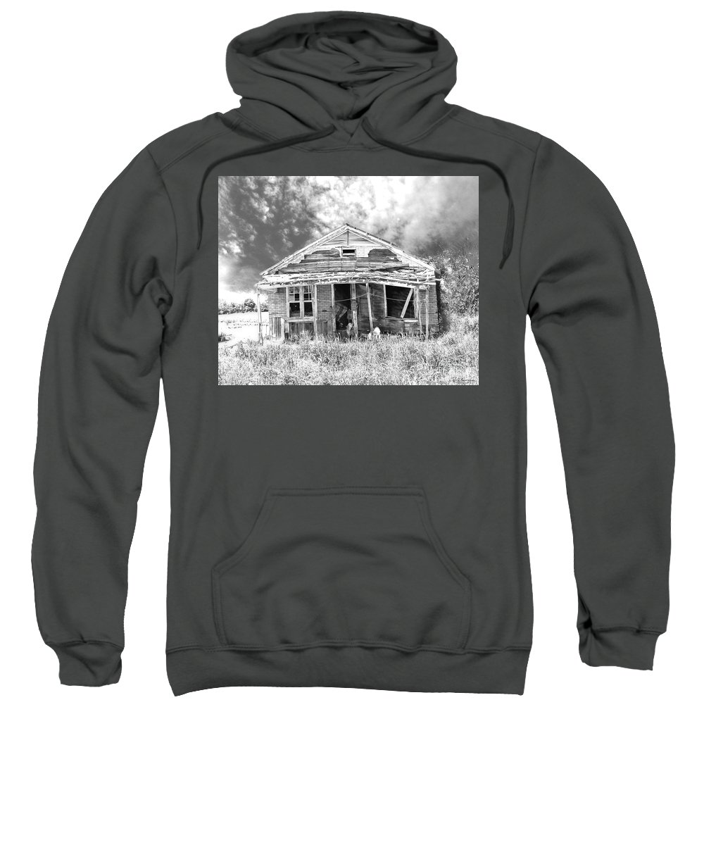 Shack Sweatshirt featuring the digital art Once Called Home by Lizi Beard-Ward