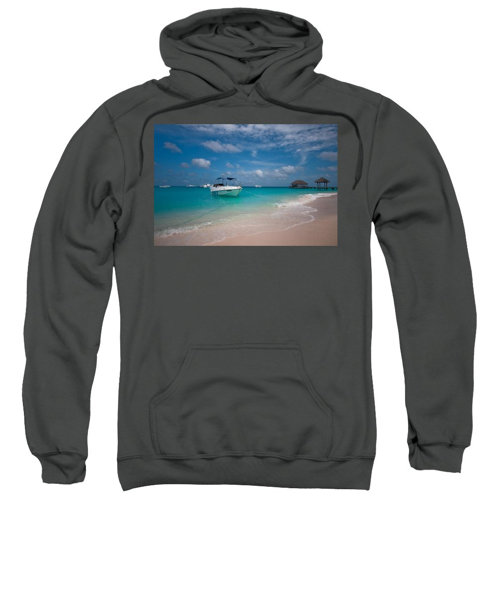 Maldives Sweatshirt featuring the photograph Out Of Border. Maldives by Jenny Rainbow