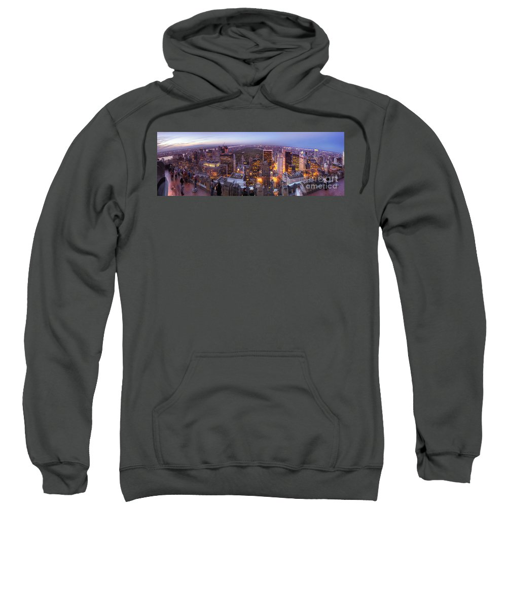 Art Sweatshirt featuring the photograph Overlooking Central Park by Yhun Suarez