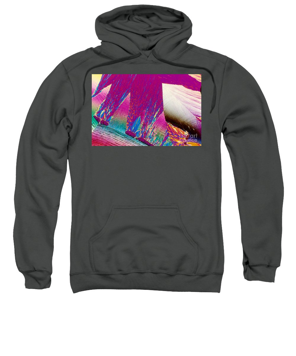 Chemistry Sweatshirt featuring the photograph Paba Crystal by Michael W. Davidson