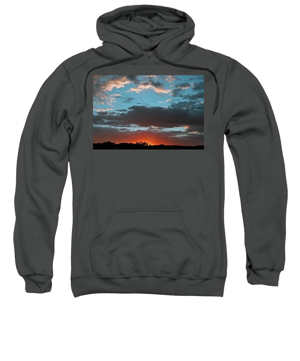 Sunset Sweatshirt featuring the photograph Pagosa Springs Colorado Sunset by Elizabeth Rose