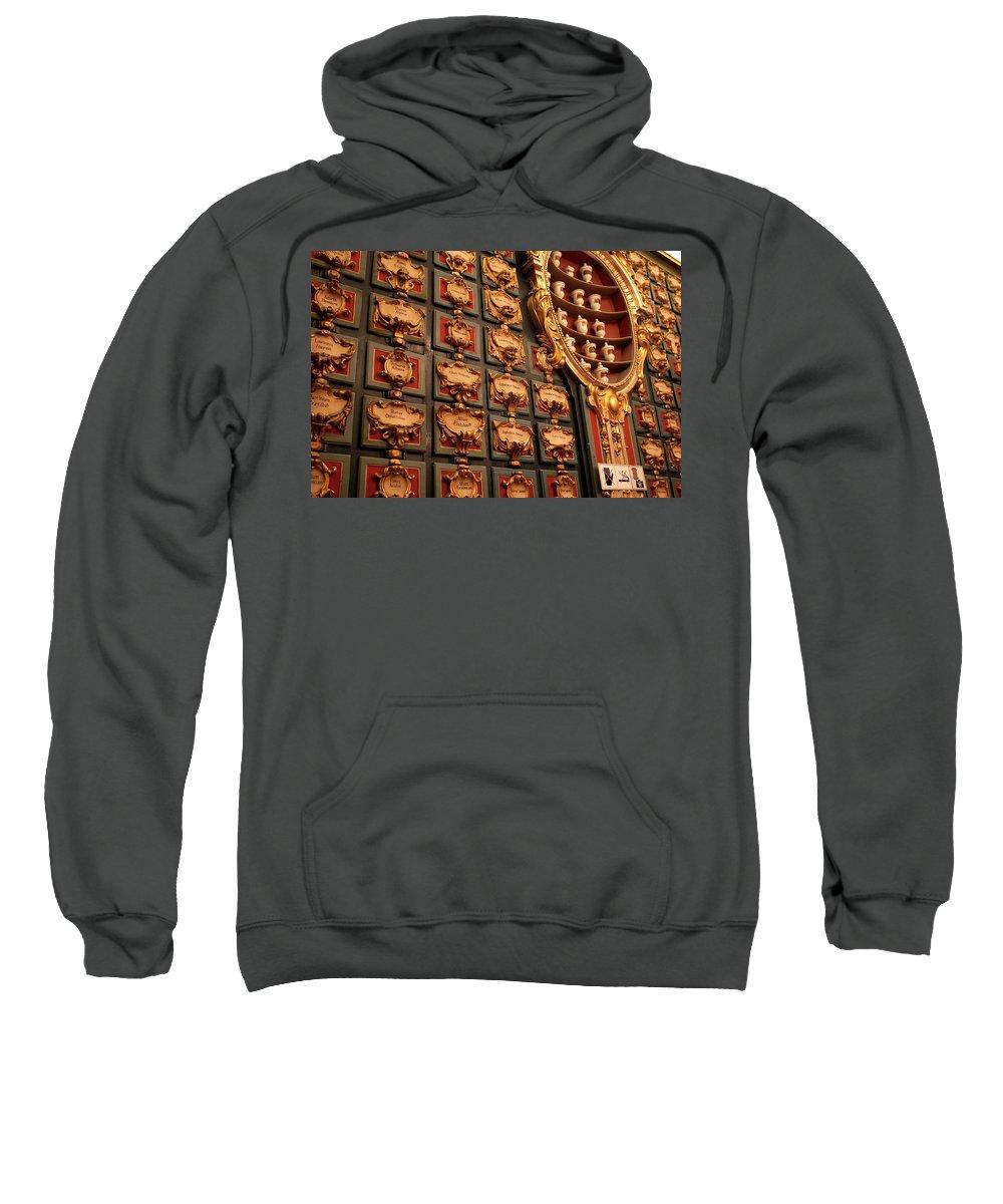 Madrid Sweatshirt featuring the photograph Palace Pharmacy by Lorraine Devon Wilke