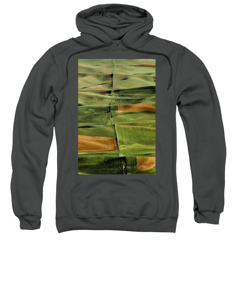 Agriculture Sweatshirt featuring the photograph Palouse Fields, Whitman County by Bilderbuch