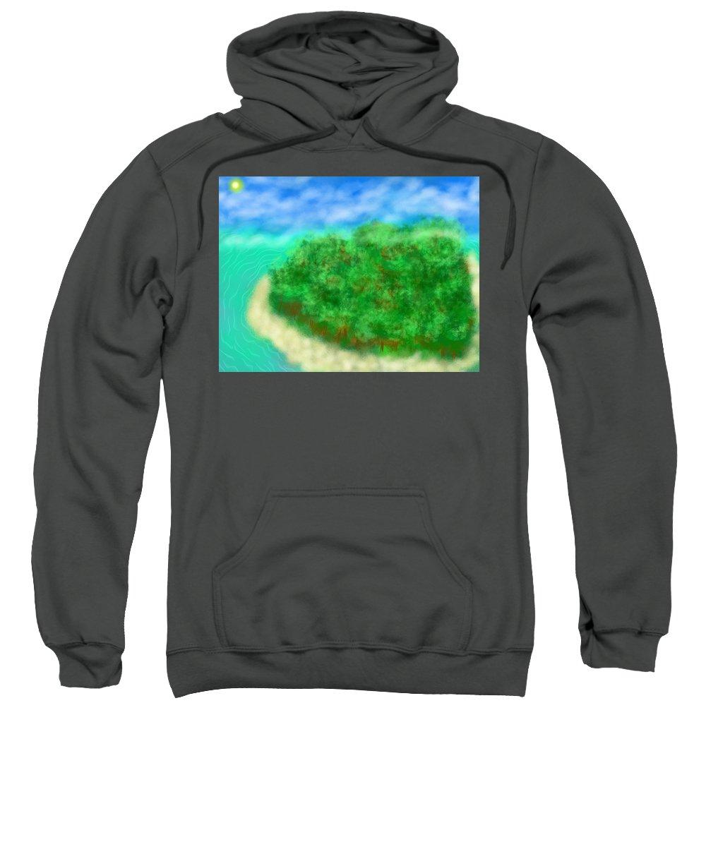 Sweatshirt featuring the digital art Paradise by Mathieu Lalonde