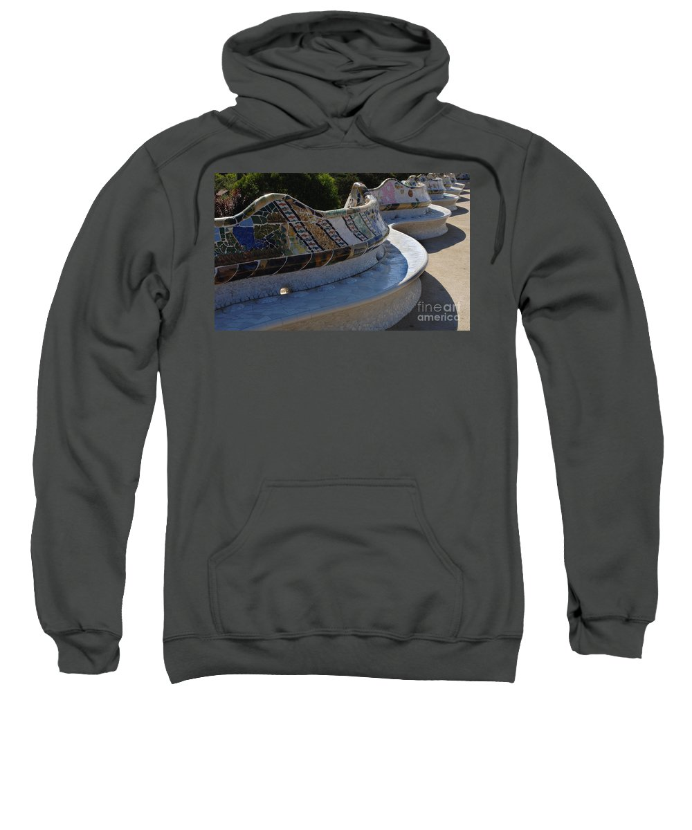 Parc Guell Sweatshirt featuring the photograph Parc Guell Spain by Bob Christopher